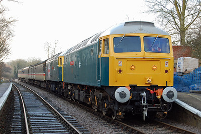 47579 + 47580 are pictured at Thuxton with 1W07 1245 from Dereham to Wymondham Abbey (09/02/2013)