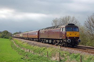 The locos and stock had been used on the previous day's marathon NENTA charter from Norwich to Edinburgh, and 47826 is seen here bringing up the rear (05/05/2013)