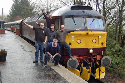 Arrochar seminar! Despite the obvious alternative of '580 on a Norwich - Edinburgh NENTA, there was always the possibility that this might be the last visit of a '47' to Mallaig on anything but the 'Royal Scotsman' and a few of us thought it well worth making the effort (04/05/2013)