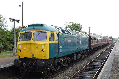 47367 awaits departure from Sheringham with the 1545 to Holt (18/05/2013)