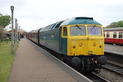 Another view of 47367 at Sheringham before working the 1545 to Holt. By the end of the afternoon the loco had successfuly completed six return trips along the line (18/05/2013)