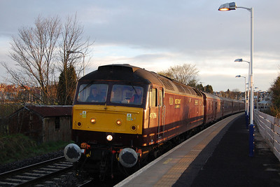 47786 'Roy Castle OBE' arrives at Kirckaldy with SRPS Railtours' 1Z55 0540 Glenrothes - Fort William charter (04/05/2013)