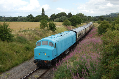 During a two-hour interlude of non '47'-hauled trains, 45149 passes Hailes with 2C65 1244 Laverton - Cheltenham Race Course (28/07/2013)