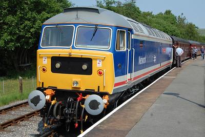 Having run round its train, 47596 waits to head back south with 2J78 1426 Rawtenstall-Heywood (05/07/2013)