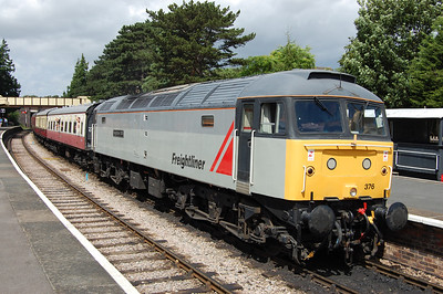 47376 'Freightliner 1995' waits time at Winchcombe with 2L58 1130 Cheltenham Race Course - Laverton, which provided my first trip along the latest section of the line to be opened north of Toddington (28/07/2013)