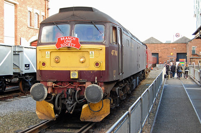 '47s' in strange places seems to be the theme of this particular gallery, so here's another one: 47760 shunts coaching stock within the Museum of Science & Industry in central Manchester after arriving on the rear of a Branch Line Society charter from Carnforth (03/11/2013)