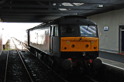 Day three of the 'Autumn Highlander' was the big one and was to see the realisation of a dream that whilst never quite 'impossible', always fell into the 'unlikely' category. At just before 2pm 47804 is pictured on arrival at Wick with 1Z57 0845 Inverness - Thurso (19/10/2013)