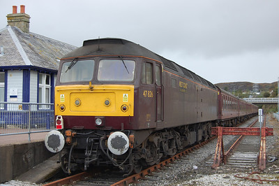 Another view of 47826 at Kyle on the rear of the 1605 return leg to Gourock after the train had been shunted across to the other platform (04/10/2013)