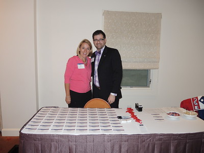 Tara Davies, Director of Penn Alumni Regional Clubs, and Colin Hennessy, Executive Director of The Penn Fund are ready to welcome alumni and guests.