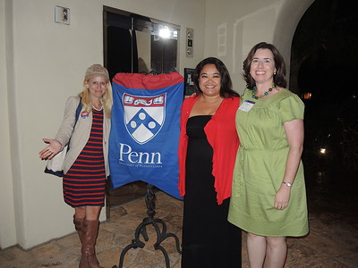 Former Penn Club of San Diego president Robby Koeppel Foss, current president B. Bea Rajsombath, and Kiera Reilly, Associate Director, Regional Clubs.