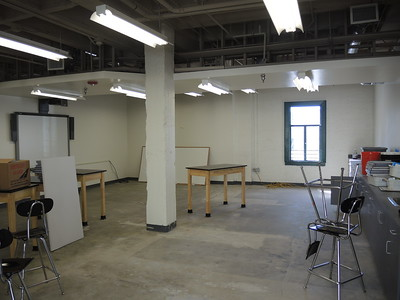 Here's the beautiful new classroom - we're moving everything into here.