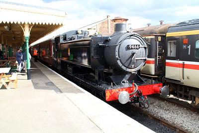 0-6-0PT 9466 at Dereham MNR awaiting to depart to Wymondham.