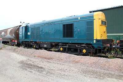 BR Blue liveried 20142 at Peterboro GBRF.