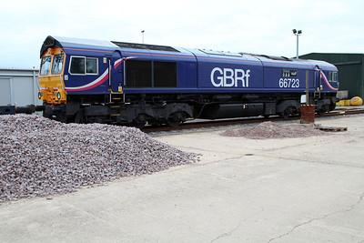 66723 'Chinook' at Peterboro GBRF.