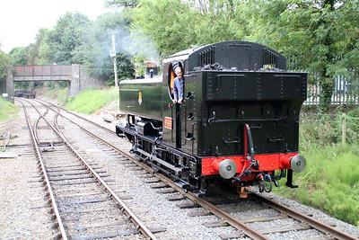 0-6-0PT 9466 running round the stock at Wymondham.