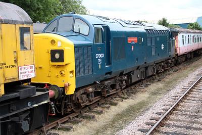 37003 'First EHT Anglian Regiment' at Dereham sidings MNR.