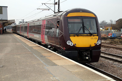 170105 on a Cross Country service to Stanstead Airport.
