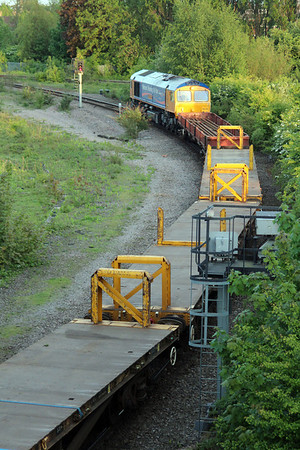 66718 2013/6t60 Whitemoor-Bury St.Edmunds seen leaving Whitemoor Yard 25/05/13.