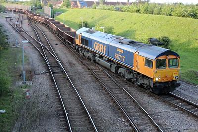 66717 1956/6t61 Whitemoor-Bury St.Edmunds seen leaving Whitemoor Yard 25/05/13.
