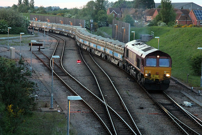 66197 2102/6G05 Whitemoor-Lincoln seen leaving Whitemoor Yard 25/05/13.