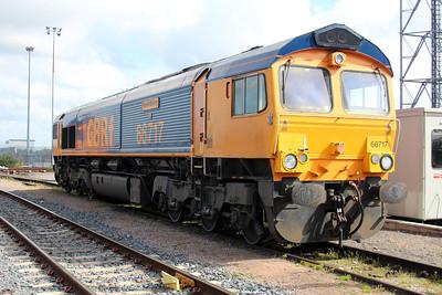66717 GBRF Depot Peterborough 25/05/13.