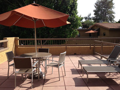 """We were upgraded from a standard room to a """"casita,"""" which was more of a 2 bed/2 bath condo with a patio."""