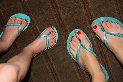 Amelia and I with twin feet