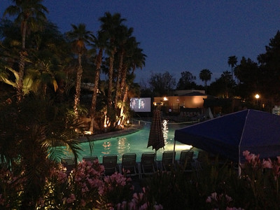 Poolside showing of Ghostbusters. I wish we could have stayed.