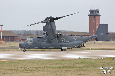 CV-22B Osprey 11-0059 7th SOS, RAF Mildenhall, UK Arrives back some 30 minutes after departing