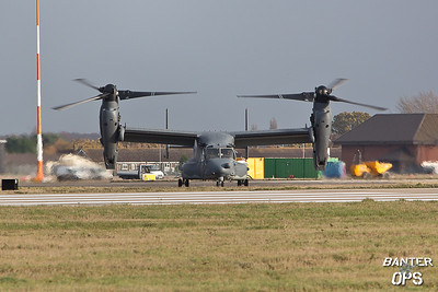 CV-22B Osprey 11-0059 7th SOS, RAF Mildenhall, UK Taxi's out to depart