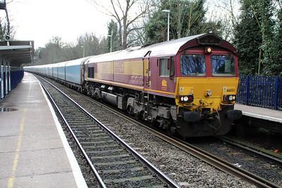 66053 1332/4m52 Southampton-Castle Bromwich passing Reading West.