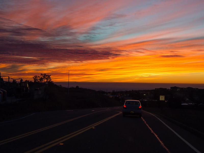 Sunset, west of Jackson