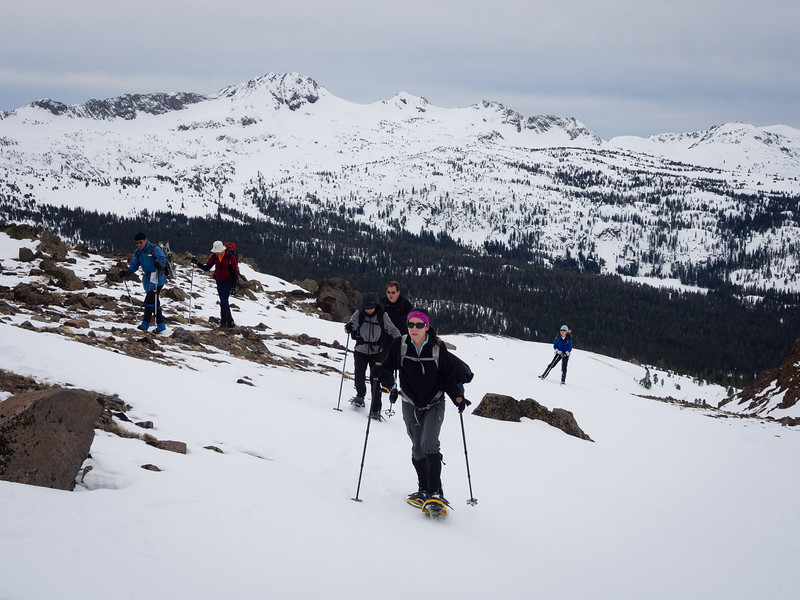 Snowshoers and Round Top
