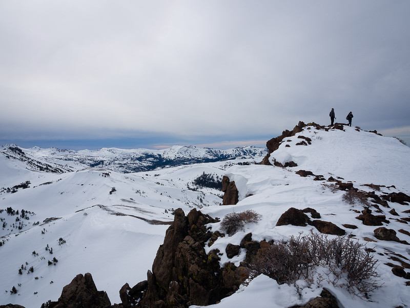 Atop Stevens Peak