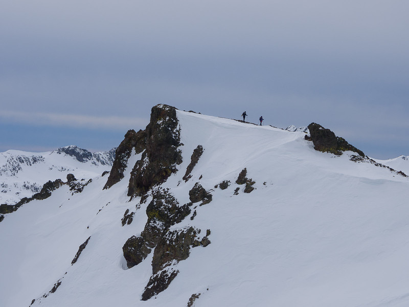 Descending the ridge