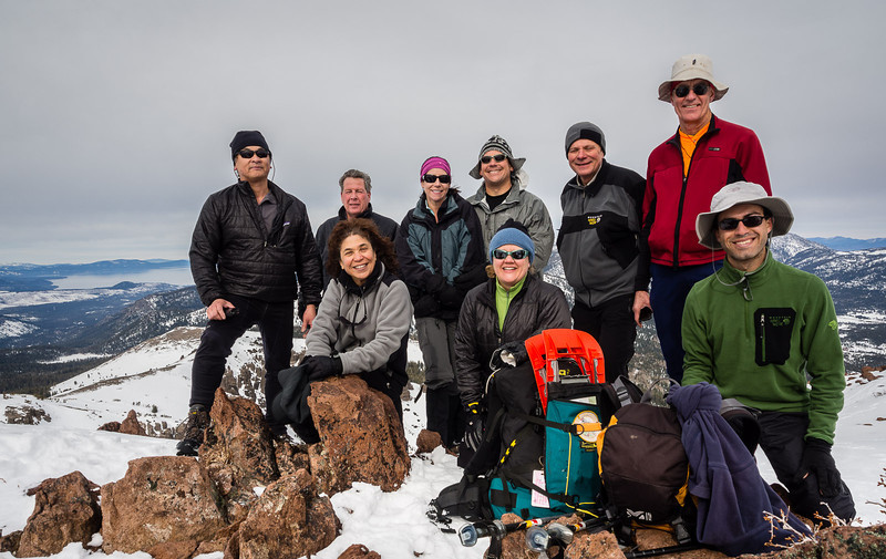 Group, atop Stevens Peak