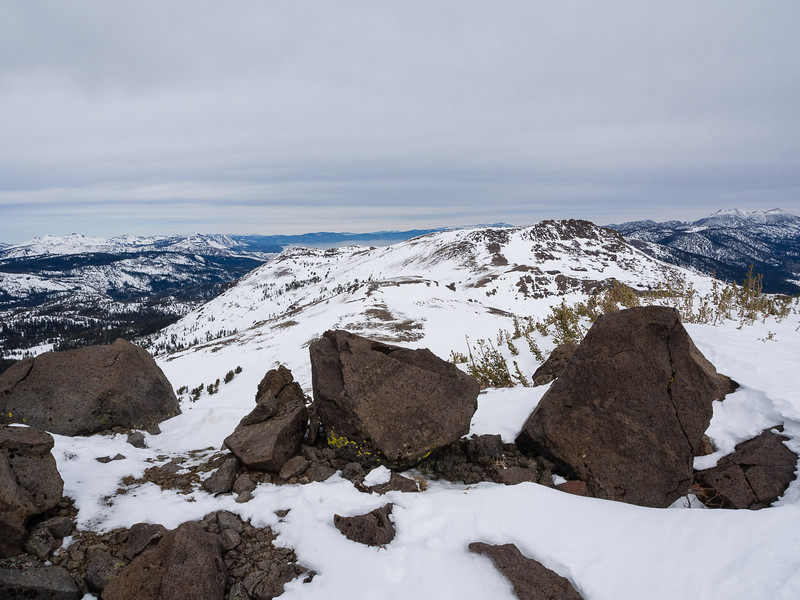 North toward Stevens Peak