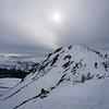 Sun above the ridge