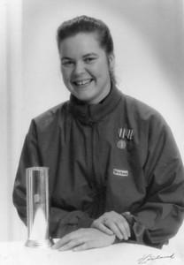 Hege Haaland ble Norsk mester i sculler på Årungen i 1987