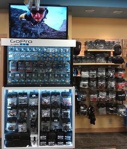GoPro display at Ron John Surf Shop