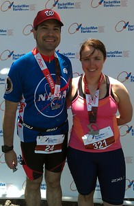 Craig and Ellen pose with their finisher medals