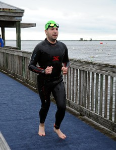 Craig exits the swim course. (Courtesy of Al Larson Photography)
