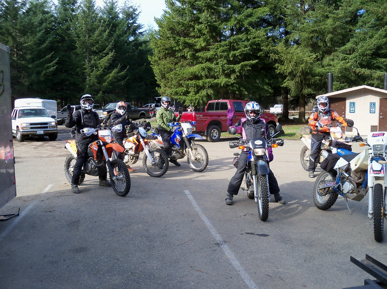 Six of us at Tahuya Staging Area