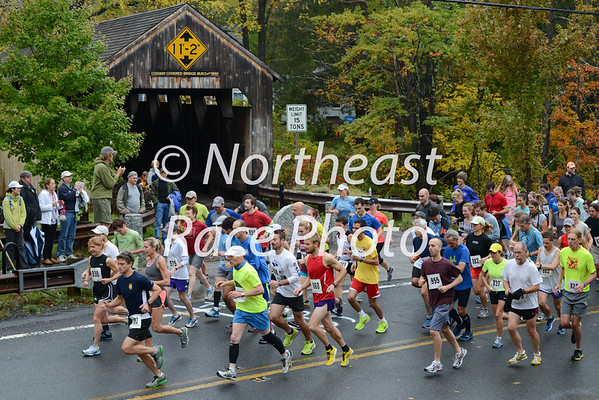2013 Conway Covered Bridge Classic 10K Road Race start