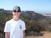 Geeky scientist with La Jolla Half Marathon T-shirt.