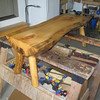 COFFEE TABLE TOM GOMACH & I BUILT FOR HIS NEW CABIN