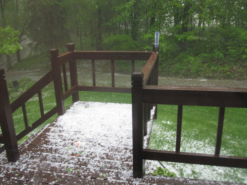 HAIL AT THE CABIN JUNE 1ST