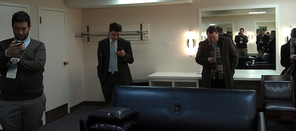 Tweeps in the green room tweet-wait the arrival of Neil deGrasse Tyson (@neiltyson)