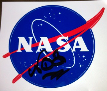 NASA Meatball decal, signed by Neil deGrasse Tyson (@neiltyson)