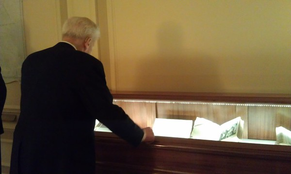 Dr. James H. Billington, Librarian of Congress since 1987, looks at original works by Galileo Galilei and Johannes Kepler